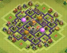 Clash of clans town hall 7 trophy base best th7 trophy base
