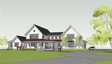 New Farmhouse Plans by Simply Home Designs Modern Farmhouse By