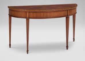 Ethan Allen Console Table Newman Demilune Sofa Table Ethan Allen