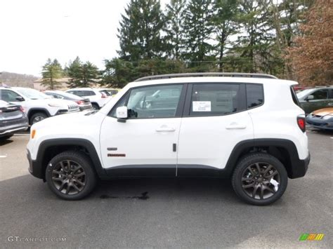 white jeep renegade alpine white 2016 jeep renegade latitude 4x4 exterior