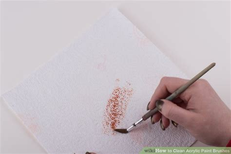 acrylic paint clean brush 3 ways to clean acrylic paint brushes wikihow
