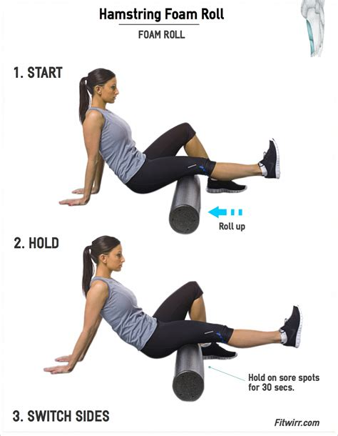 hamstring foam roll hamstring exercise
