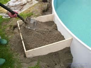 stahlwandpool mit treppe pool verf 252 llung einfach bauen