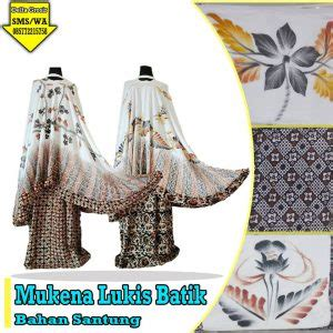 Mk52 Mukena Lukis Rempel Jumbo konveksi mukena lukis batik murah 0857 7221 5758