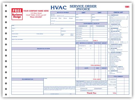 hvac service report template work orders hvac work order hvac work orders print forms