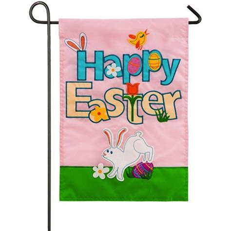 easter garden flag happy easter garden flag easter flags holidays