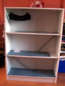 turn book shelf into small animal cage diy for the
