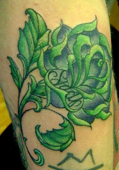 green rose tattoo 12 green images pictures and design ideas