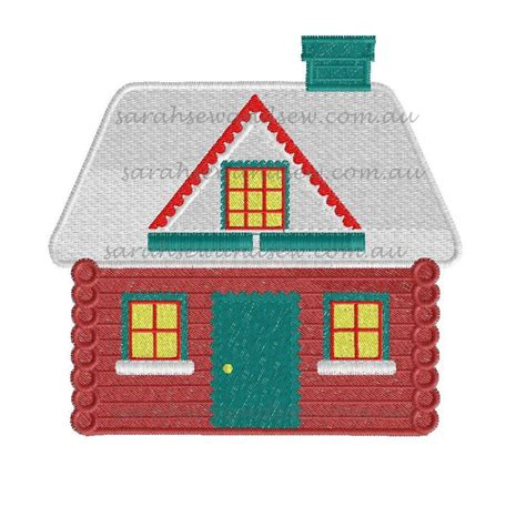 house embroidery pattern christmas house embroidery design