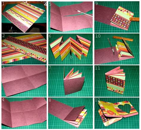 How To Make A Paper Album - baby mini album tutorial papervine
