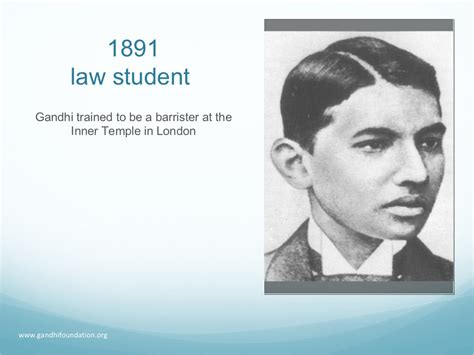 gandhi biography for students 1891 law student gandhi trained