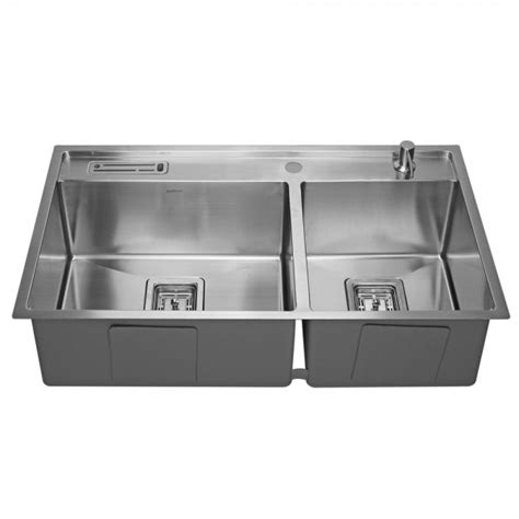 stainless steel sink 304 grade stainless steel kitchen sink 1 5mm thick 60 40 bowl