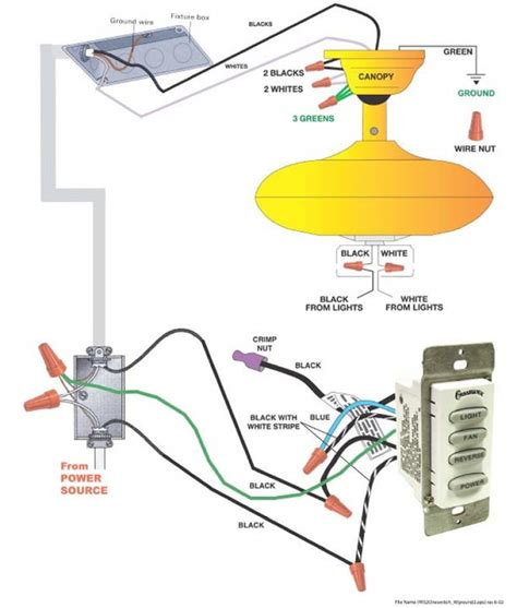 remote ceiling fan wiring wiring diagram with