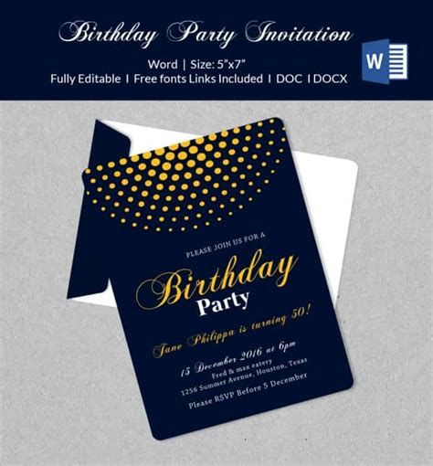 design invitation microsoft word 50 microsoft invitation templates free sles