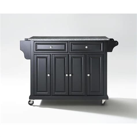 crosley furniture kitchen cart crosley furniture solid granite top kitchen cart in black