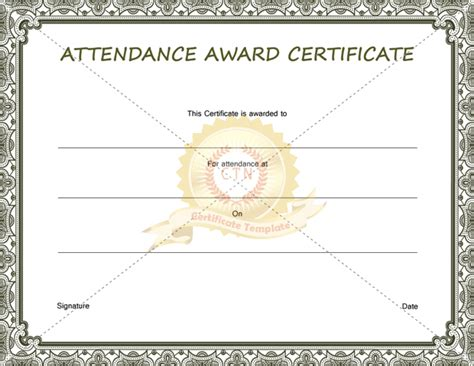 attendance certificate free template you are a lifesaver template just b cause