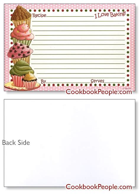 Cupcake Recipe Card Template by 1949 Best Printables Images On Recipe Books