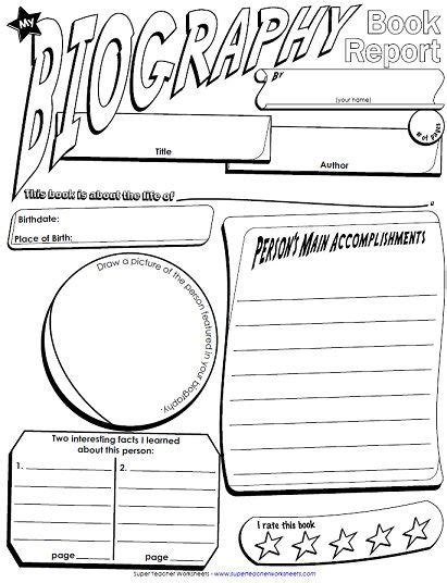 biography report template for elementary students we added another book report poster to our collection