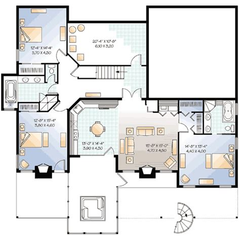 5 bedroom house plans with inlaw suite five bedroom mountain house plan 21180dr 1st floor