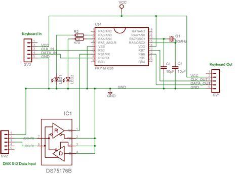 dmx512 termination resistor dmx receiver floating input