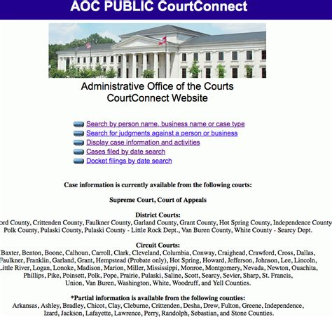 Court Records Arkansas Arkansas Court Connect Apsrc