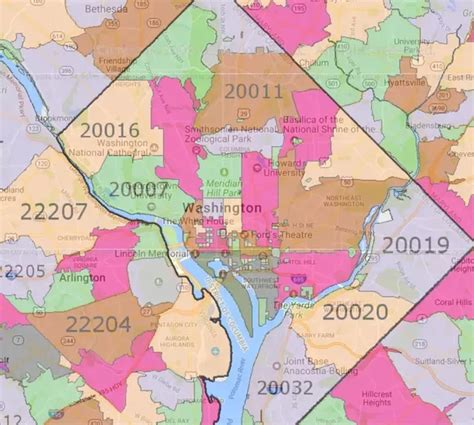 zip code maps dc what is the postal code in washington dc quora