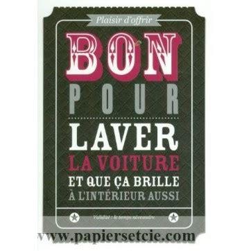 Carte Cadeau à Imprimer 3715 by Carte Postale Bon Pour Carte Bon Pour Laver La Voiture