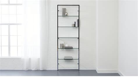 white wall mounted bookcase tesso chrome 84 quot wall mounted bookcase cb2
