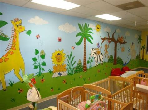 decorating nursery walls wall mural ideas for decorating the baby nursery walls