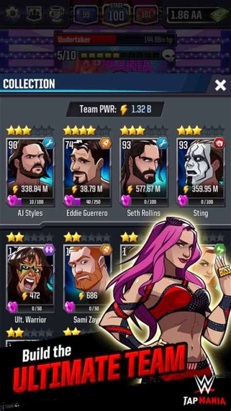 wwe card game mod apk wwe tap mania for ios android launched download from here