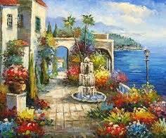 Mediterrane Bilder Gemalt by Mediterranean Sea Landscapes Paintings 005