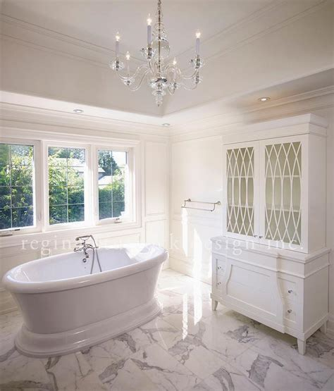 White Marble Bathroom Ideas by Bathroom Glass Hutch Transitional Bathroom
