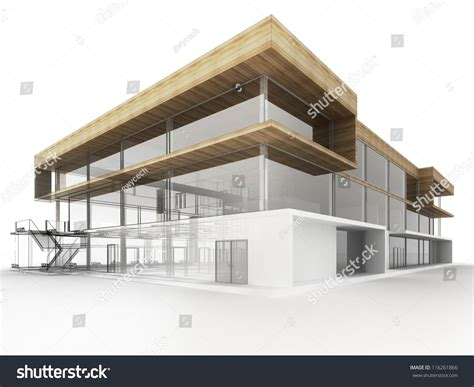 architects and designers building design modern office building architects designers stock