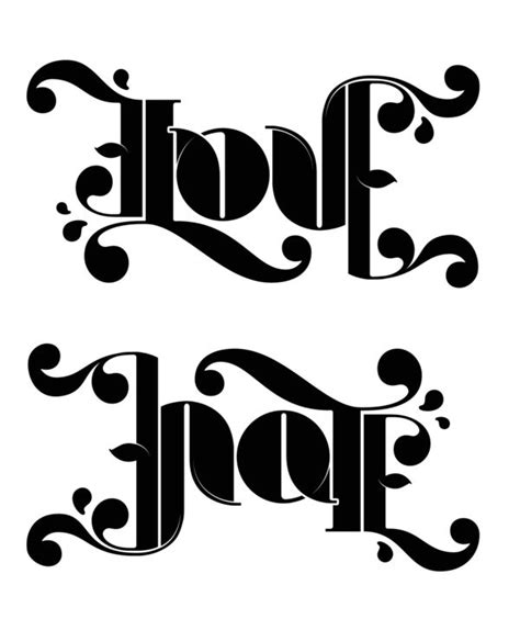 tattoo logo generator online 52 best ambigrams inversions palindromes images on