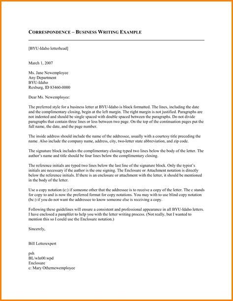business correspondence letter sle the best letter sle