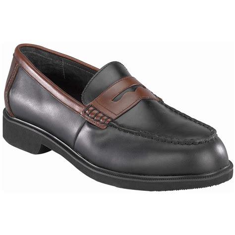 steel toe loafers rockport 174 works dressports two tone steel toe