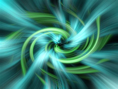 illustration green blue vortex swirl light