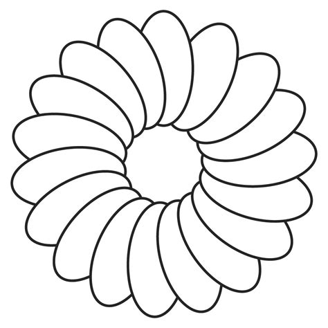 flower drawing templates flower cut out templates clipart best