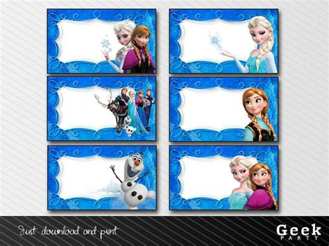 printable frozen gift labels 6 best images of frozen printable name tags frozen food