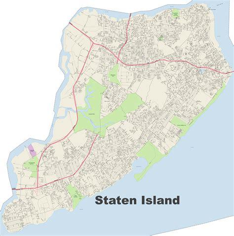 staten island map staten island map