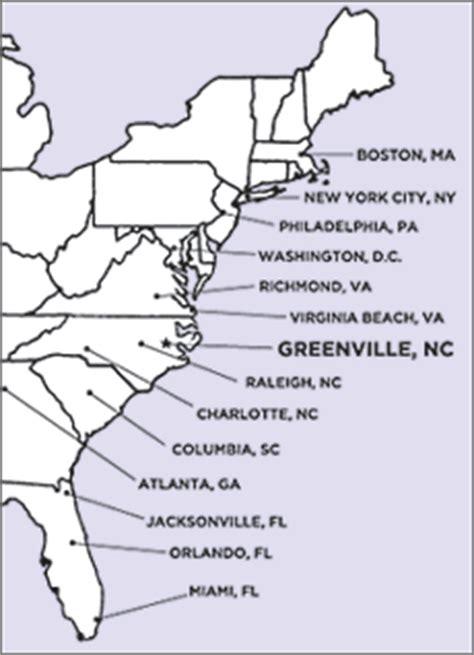 us map east coast outline map east coast
