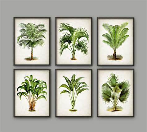 free printable tree wall art palm tree botanical wall art print set of 6 modern home