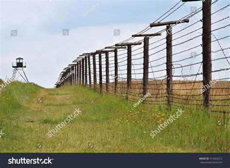 austria iron curtain remains of iron curtain near border of czech republic and