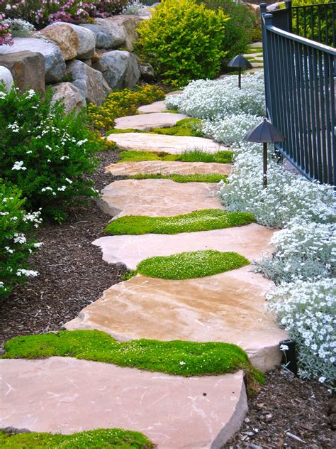 providing a view this beautiful stone walkway rambles