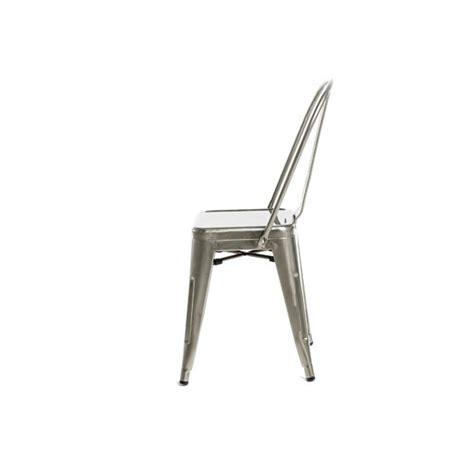 galvanized brushed nickel finish tolix chair tablebasedepot