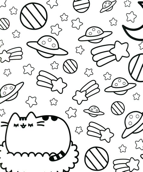 pusheen coloring book pusheen pusheen  cat pusheen