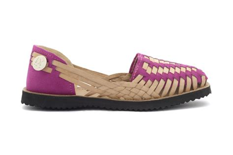 magenta sandals ix style s magenta woven leather huarache sandals in