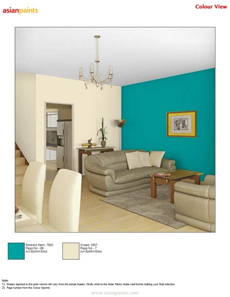 colour combination for hall hall in bluish with cream combination is customer choice