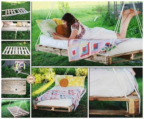 diy pallet swing bed diy patio and garden swings 20 fabulous ideas