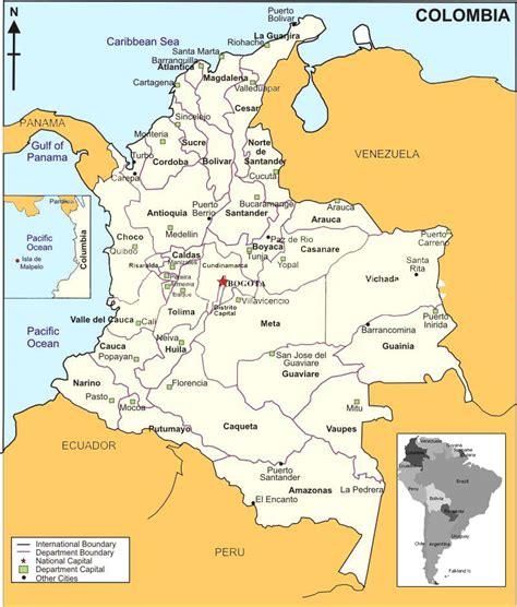 los limites de la maps of colombia